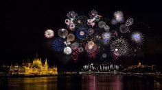 25 minute fireworks on one single photo #Budapest #Hungary