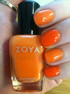 Zoya Nail Polish in Arizona with Zoya Coraline (LE Zoya Blogger Collection by Birchbox) layered over the middle and pinkie finger - juicy!