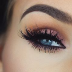 Mauve eye look.