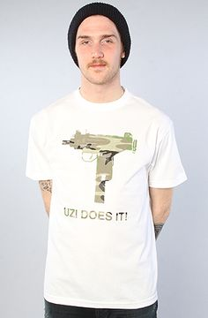 #BrickHarbor The #UZI Does It #Camo Tee in #White by Skate Mental  Use rep code:XLOOP for 20% off  Retail:$20.00