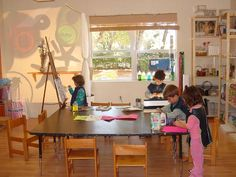 let the children play: Reggio-inspired preschool ateliers... I have a smaller space, but this picture is an example of what I want to see!