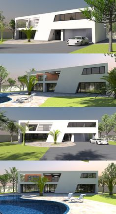Small size home 04 – Compact 5 bed / 3 bathroom property with cool modern look. Features a double at… Villa Design, House Design, Style At Home, Archi Design, Spiral Staircase, Creative Home, Future House, Mansions, Interior Design