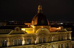 The Night View from the Roof of the YMCA Palace to Hotel Century Old Town Prague #prague #travel #YMCA #palace #view #roof #hotel #centuryoldtown #night #city #street #NightInTheCity #nikon #nikonphotography