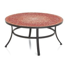 Mosaic Red Coffee Table in Lounge Furniture | Crate and Barrel