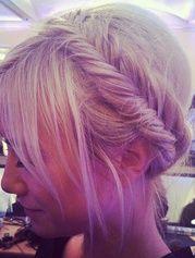 fishtail braid headband - love!