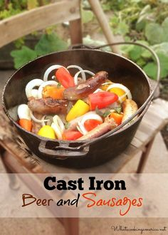 Cast-Iron Beer n' Sausages Recipe | whatscookingamerica.net