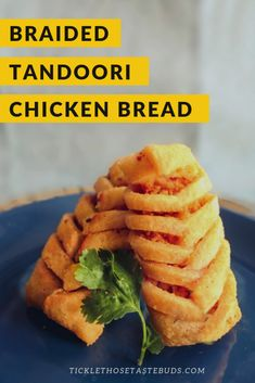 This braided tandoori chicken bread is a no-bake, no-dough recipe. It is a fancy and delicious snack that is a real crowd-pleaser. Tea Snacks, Salty Snacks, Quick Snacks, Yummy Snacks, Yummy Recipes, Snack Recipes, Yummy Food, Tandoori Masala