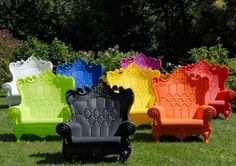 """plastic outdoor chairs - need one for the """"birthday girl"""" to open presents in. Now to find out where to buy it"""