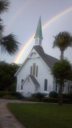 Epworth by the Sea...a double rainbow over the chapel..