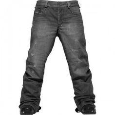 Black gore-tex snowboarding jeans