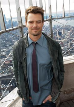"February 2013 - Actor Josh Duhamel took a break from promoting Safe Haven Movie to admire the views from the floor Observatory. ""Safe Haven"" will be released in theaters this Valentine's Day. Josh Duhamel, Dakota Do Norte, Skylar Astin, Eric Dane, Alexander Ludwig, James Maslow, Tamar Braxton, Hottest Male Celebrities, Guys And Dolls"