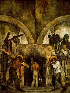Entry into the Mine - Diego Rivera