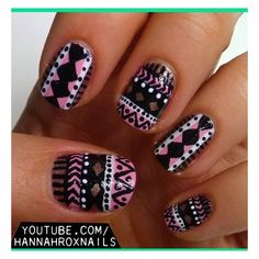 Tribal Nail Art ❤ liked on Polyvore featuring beauty products, nail care, nail treatments and nails