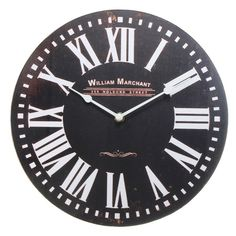 Round Wooden Wall Clock Quartz Movement Vintage Retro Antique Style