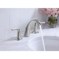 KOHLER, Mistos Widespread bathroom sink faucet in Vibrant Brushed Nickel, K-R37026-4D-BN at The Home Depot - Mobile