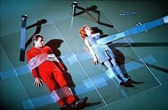 Land of the Giants- Gary Conway, Deanna Lund 1968. In this scene, they're being examined by a giant scientist.