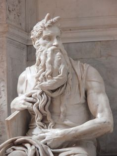 Michaelangelo / Moses c. Influenced basically any sculptor alive; one of the best of all time, renaissance period, competed with Da Vinci, considered better then him at sculpture Miguel Angel, Caravaggio, Statues, Michelangelo Sculpture, Art Ninja, Rome Florence, True Art, Western Art, Art Plastique