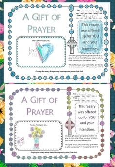 """It's beautiful to teach children or students to have an intercessor's heart. God is calling us to pray for many people. """"Be joyful always; pray continually; give thanks in all circumstances.""""~ 1 Thessalonians 5:16-18 This rosary gift of prayer worksheets are to have your"""