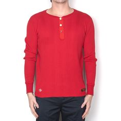 Neighborhood Waffle . TP-3 / C-Henley . LS Red