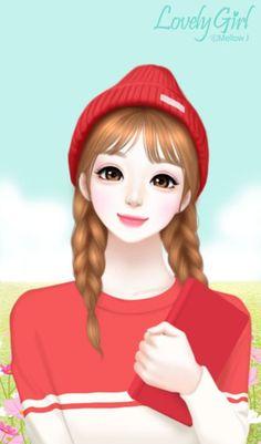 art, illustration girl, and art girl image Cartoon Girl Images, Girl Cartoon Characters, Cute Cartoon Girl, Anime Girl Cute, Kawaii Anime Girl, Anime Art Girl, Beautiful Girl Drawing, Cute Girl Drawing, Animated Love Images