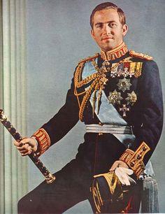 King Constantine II of Greece Greek Royal Family, Danish Royal Family, Casa Real, Constantine Ii Of Greece, Olympia, Greek Royalty, Military Decorations, Adele, Danish Royals