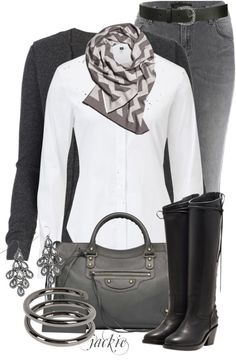 """""""Chevron Scarf"""" by jackie22 ❤ liked on Polyvore"""