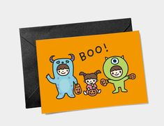 Monsters Inc Halloween, Boo Costume, Happy Unbirthday, Mike And Sulley, Monster Costumes, Funny Fathers Day Card, Cute Birthday Cards, Unicorn Print, Baby Girl Gifts