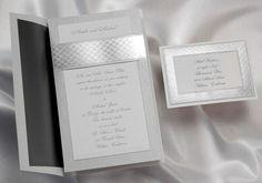 Silver stardreamer Wedding Invitations by Wedding Invitations -The Office Gal