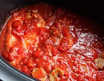 Easy Breezy Slow Cooker Chicken Cacciatore