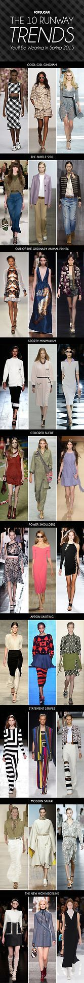 Your official Spring 2015 trend report.