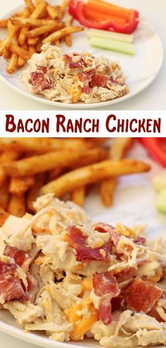 Instant Pot or Crockpot Bacon Ranch Chicken–the easiest and yummiest chicken! With only 6 ingredients this is a perfect weeknight dinner. Serve plain, in wraps or on top of buns. CAN BE KETO! Easy Chicken Dinner Recipes, Instant Pot Dinner Recipes, Best Dinner Recipes, Appetizer Recipes, Amazing Recipes, Turkey Recipes, Appetizers, Pressure Cooker Recipes, Pressure Cooking