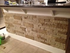 Would love to do this to the little half wall in the dining room.. almost matches the fireplace...