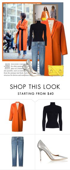 """How to wear a orange coat!"" by solinestyle ❤ liked on Polyvore featuring Alberto Biani, Zimmermann, Uniqlo, Jimmy Choo, SPURR, women's clothing, women, female, woman and misses"
