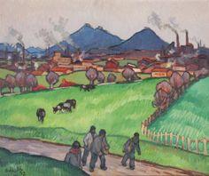 Gaston Balande (1880-1971) L'heure du repas
