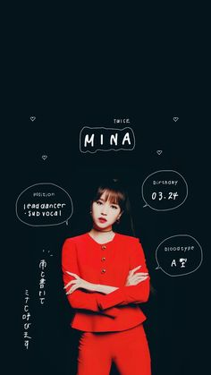 Mina in red and all ya need to know .
