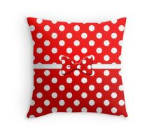 Minnie Red Throw Pillow