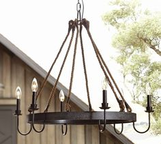 Napa Wine Barrel Chandelier | Pottery Barn