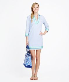 Seersucker Tunic Dress
