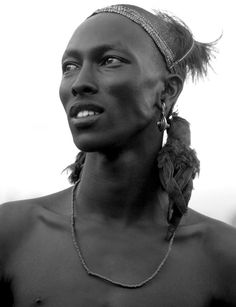 Nilotic man of the Shilluk tribe!