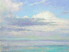 Clouds Majestic 9 x 12 pastel en plein air by Richard McKinley $1200