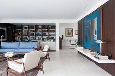 Eames Inspired Interior by Felipe Hess - decor for apartment, Oscar Freire Street, São Paulo