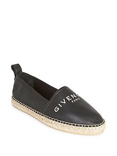 Givenchy Logo Leather Espadrilles