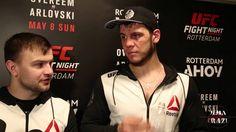 Nikita Krylov UFC Fight Night Rotterdam Post Fight Media Scrum