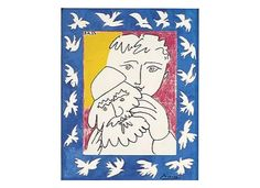 1981 Sao Tome and Principe Picasso Painter Art Dove Old and New Year 1 Maxi Card Pablo Picasso, Kunst Picasso, Art Picasso, Picasso Prints, Framed Art Prints, Poster Prints, Abstract Portrait, Alonso, Christmas Art