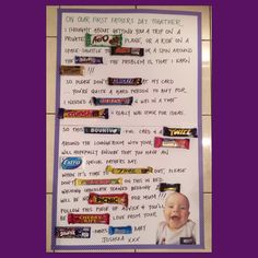 Father's Day Card for Dad Made with chocolate bars available in Australia.