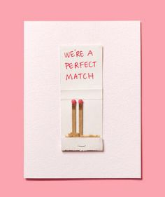 Use a matchbook to make this easy DIY Valentine's Day card.