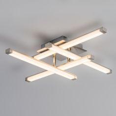 Plafón MONDRIAAN LED acero #iluminacion #decoracion #interiorismo