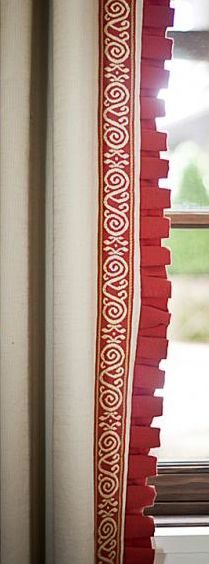 Window Treatments… Stunning detail.