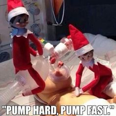 CPR by Elf on the shelf. Lol