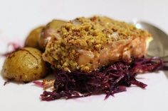 Roast Salmon with Red Cabbage